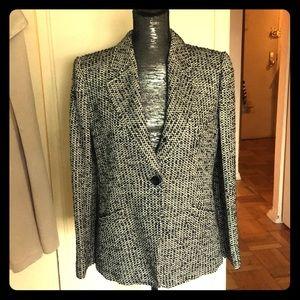 ARMANI COLLEZIONI Tweed, Single Button Blazer, sz8